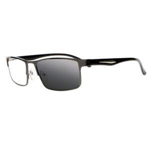 Men Transition Photochromic Nerd Geek Nearsighted Myopia Glasses -100 ~ -600 UV