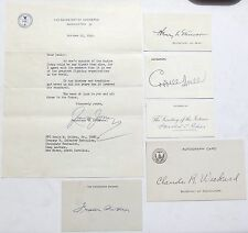 Franklin Roosevelt Cabinet Members Political Collection Autographs Stimson, Hull
