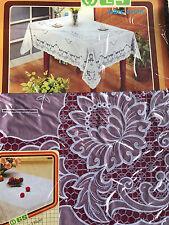 135x135 cm Nappe de table rouge carré camping couverture protection motif floral