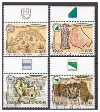 2004 - REGIONI D'ITALIA SERIE CON BANDELLE  USATI