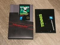 Tennis w/Manual & Sleeve Nintendo Nes Cleaned & Tested Authentic