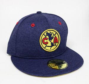 New Era Club America Aguilas 59FIFTY Fitted Hat Gorra Cerrada Heather Navy