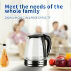 1500W 1.8L Electric Water Kettle BPA-Free Glass Tea Hot Water Fast Boiling LED photo
