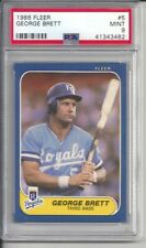 1986 Fleer George Brett #5 PSA 9 Mint Baseball Card.