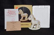 Precious Moments- Rocking Horse ~ Ornament Mib - 102474 1St Mark Olive Branch