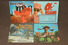 ROBERTO DELGADO 4 LP RECORD ALBUM LOT COLLECTION Ole/Bouzouki 1&2/Vacation Sun