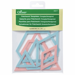 Clover Patchwork Templates Triangle/Hexagon, Set Of 7