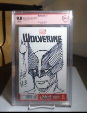 Wolverine #1 CBCS 9.8 Blank Variant Cover (Marvel 2013) SIGNED & SKETCH SIMONSON