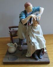 """The Haircut"" Four Seasons - Summer 1963 - Norman Rockwell Figurine = Nr-6020 ="