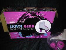 Skate Gear Roller Skates Indoor Outdoor Skating Faux Leather Boot Frame Size 3