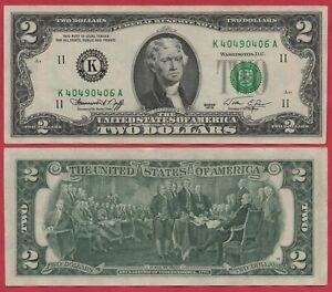 UNITED STATES USA 2 DOLLARS 1976 P461 K DALLAS BANKNOTE UNC