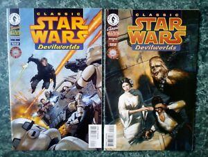 Classic Star Wars: Devilworlds 1 & 2 [LOT OF 2] NM, VF+ (1996 DARK HORSE COMICS)