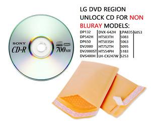 LG DVD Region Code Unlock DP542H & DP132