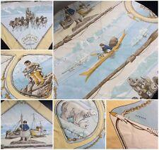 Hermes Gronland Scarf by Philipe Ledoux Yellow Border
