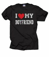 Gift For Girlfriend T-Shirt I Love My Boyfriend Tee Shirt
