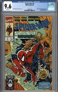 Spider-Man #6 CGC 9.6 NM+ Tiger Electronics Insert Variant WHITE PAGES