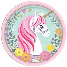 Magical Unicorn Round Edible Party Cake Image Topper Frosting Icing Sheet