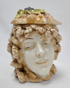 Jugenstil Art noveau musterschutz porcelain ladies head beer mug as is