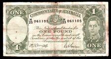 Australia One Pound (1942) P-26b Armitrage/Farlane Vg $3 s&h-Usa