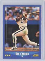 1988 Score #164 KEN CAMINITI Rookie RC (Astros)