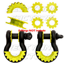 """New Yellow Isolator Washers 1 Pair Set Silencer Clevis for 3/4"""" D-ring Shackles"""