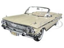 1961 CHEVROLET IMPALA OPEN CONVERTIBLE ALMOND BEIGE 1/18 MODEL CAR SUNSTAR 3408