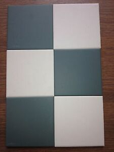 VICTORIAN OLD ENGLISH ORIGINAL STYLE FLOOR TILES 10x10 cm GREEN OR WHITE M2