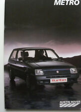 Catalogue / brochure AUSTIN ROVER METRO de 1987 en français