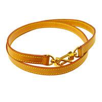 LOUIS VUITTON Logos Shoulder Strap Brown Leather  Handbag Accessories YG02044c