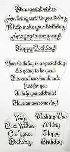 Sentimentally Yours By Phill Martin Clear Stamp Set-Swirly Birthday Verses