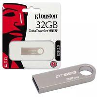 NEW 32GB Kingston Data Traveler SE9 USB 2.0 Flash Drive USB 2 Memory Stick