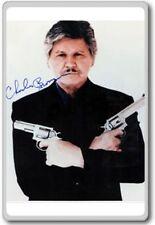 Charles Bronson Autographed Preprint Signed Photo Fridge Magnet