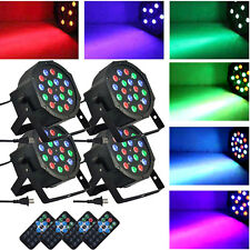 4Pack 54W RGB Stage Lighting DMX LED Par Projector Light + Remote Control