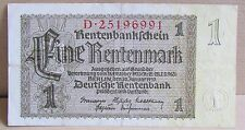 1937 + Germany 1 Rentenmark Banknote