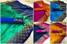 Tussar Silk Indian Saree Bollywood Ethnic Party Wear Kanchipuram Traditional KK