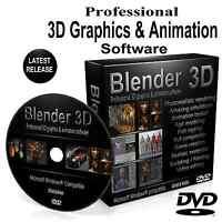 BLENDER 3D 2020 Pro Graphics Game Film Animation Studio Software DVD For Windows