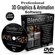 BLENDER 3D Graphique Professionnelle Film Animation Studio Logiciel DVD pour Windows