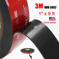 """3M 1"""" x 9 ft  VHB Double Sided Foam Adhesive Tape 5952 Gopro Action Can US"""