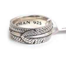 Новый David Yurman Men'S 9.5 мм к юго-западу перо кольцо серебро размер 10