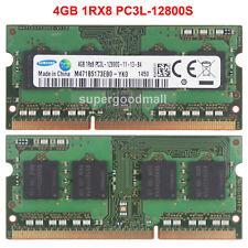 For Samsung 4GB 8GB 16GB 1RX8 PC3L-12800S DDR3L-1600Mhz 1.35V SODIMM Memory RAM