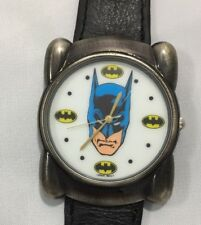 Vintage Batman Watch DM Comics With Genuine Leather Band