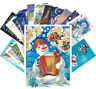 Postcards Pack [24 cards] Vintage Christmas Russian New Year Santa Winter CF7001