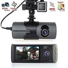 Dual Car Camera GPS logger Dash HD DVR Video Vehicle Cam Recorder Crash Car AD