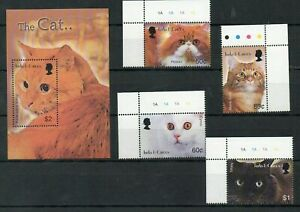 Turks and caicos 2003 domestic animals cats set+s/s MNH