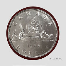 1968 Canada 1$ Dollar Nickel Coin Voyageur  Circulated  (DC6)