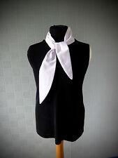 White retro scarf rockabilly neckerchief 40's /50's hair bandana retro headband