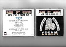 CREAM RARE CD LIVE STOCKHOLM / SAN FRANCISCO