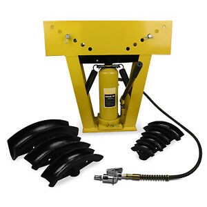 16 Ton Air Pneumatic Hydraulic Pipe Tube Bender Bending Machine Portable 8 Dies