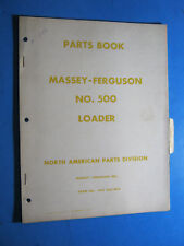 MASSEY FERGUSON MF 500 LOADER PARTS BOOK MANUAL 1958 OEM