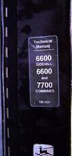 John Deere 6600-6600 Sidehill-7700 Combines Technical Service Manual - TM1021